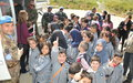 Schoolchildren visit UNIFIL HQ