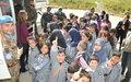 Schoolchildren visit UNIFIL HQ
