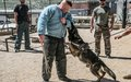 French peacekeepers train together with LAF dog handlers