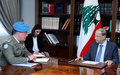UNIFIL Head of Mission holds separate meetings with top Lebanese leaders