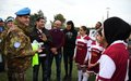 UNIFIL Sector West delegation visits women-only soccer team