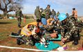 UNIFIL peacekeepers train for emergency situation