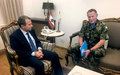 UNIFIL Head of Mission Major General Beary meets with Foreign Minister Bassil