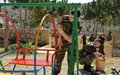 Irish and Finnish peacekeepers restore playground for children
