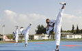 Korean peacekeepers train local youth on taekwondo
