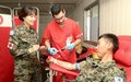 Korean peacekeepers donate blood