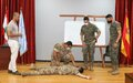 UNIFIL troops in Sector East conduct first aid training with LAF
