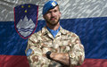 Portrait of a Slovenian peacekeeper