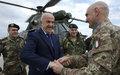 وزير الدفاع وقائد القوات المسلحة اللبنانية يزوران اليونيفيل