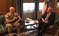 UNIFIL Force Commander and Head of Mission meets Lebanese authorities in Beirut
