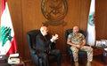رئيس بعثة اليونيفيل وقائدها العام يلتقي وزيري الدفاع والخارجية
