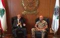 رئيس بعثة اليونيفيل وقائدها العام يلتقي نائب رئيس الحكومة اللبناني
