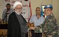 مكتبة الكترونية في بلدة باريش، بصمة معرفة من جنود حفظ السلام