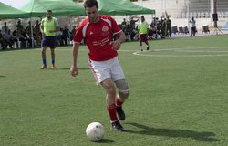 A football game to raise mine awareness, 16 May 2012