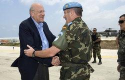 Prime Minister Najib Mikati visits UNIFIL, 16 July 2011