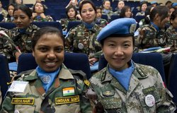 UNIFIL women peacekeepers honoured on International Women's Day, 08 March 2012