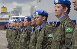 Maritime Task Force peacekeepers during the ceremony of transfer of authority at Beirut port, February 19th 2013