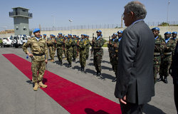 Lebanese minister of Information visit to UNIFIL headquarters, 20 May 2013