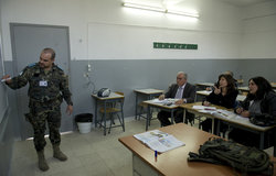 UNIFIL's Spanish classes are open to all age groups, Marjeyoun, South Lebanon.