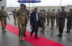 وزير الخارجية اللبناني يزور اليونيفيل