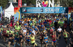 Beirut Marathon 2015 organized under the slogan: Peace, Love, Run saw over 38,000 participants, Sunday November 8th, 2015.