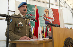 UNIFIL's Head of Mission and Force Commander Major-General Luciano Portolano addressing the audience during the celebration of the Lebanese Independence Day held at UNIFIL Headquarters in Naqoura, South Lebanon.