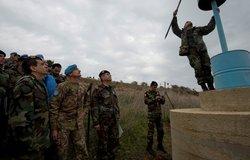 UNIFIL Head of Mission reviews Blue Line marking near Kafer Kela