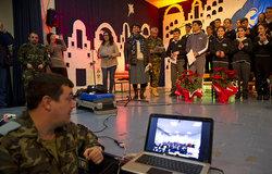 Lebanese and Spanish children celebrate Christmas in Marjayoun
