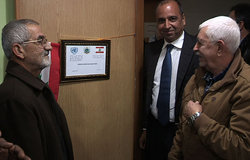 Imran Riza, Deputy Head of the Mission of UNIFIL, inaugurates a new UNIFIL-funded training room at the Agricultural Bureau in Bint Jubayl.