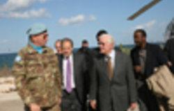Former US President Jimmy Carter visits UNIFIL