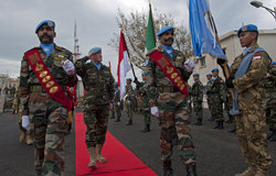 Major-General Paolo Serra takes over Command of UNIFIL, 28 January 2012