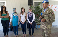 UNIFIL Head of Mission & Force Commander Major-General Paolo Serra addresses the public at the launch of UNIFIL's new TV Series -Bread & Salt-